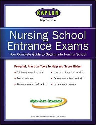 Kaplan Nursing School Entrance Exams Kaplan 9780743273367 Amazon