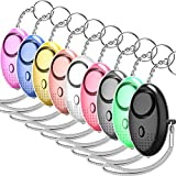 yougccc 130dB Personal Alarm Keychain, Emergency Safesound Self Defense Security Siren Alarms LED Light Individual Packages for Women, Kids, Elderly, Adventurer, Night Workers (Multicolor -9Pack)