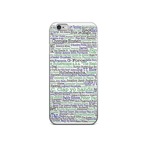 iPhone 6 Case iPhone 6s Case Cases Clear Anti-Scratch Psych tv Show Poster, Nicknames, Burton Guster Cover Case for iPhone 6/iPhone 6s, Crystal Clear