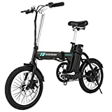 ANCHEER Folding Electric Bike, 16 Inch Collapsible Electric Commuter...