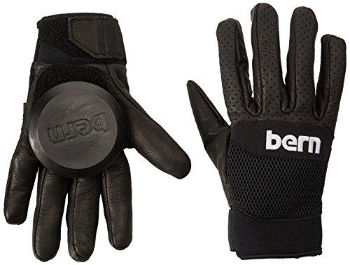 BERN Unlimited Leather Haight Longboard Glove, Black, Medium/Large