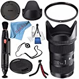 Sigma 18-35mm f/1.8 DC HSM Art Lens for Canon #210101 + 72mm UV Filter + Lens Pen Cleaner + Fibercloth + Lens Capkeeper + Deluxe Cleaning Kit + Flexible Tripod Bundle