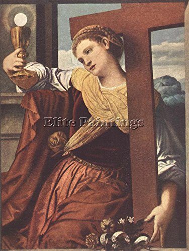 MORETTO DA BRESCIA ALLEGORY OF FAITH ARTIST PAINTING REPRODUCTION HANDMADE OIL 32x24inch MUSEUM QUALITY by Elite-Paintings