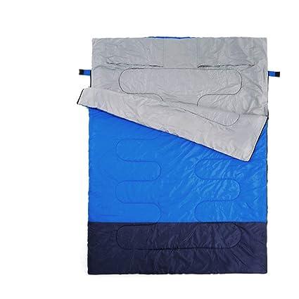 ALXDR Saco de Dormir Algodón Pareja para Acampar Adultos Primavera y otoño Invierno Sobre Grueso cálido