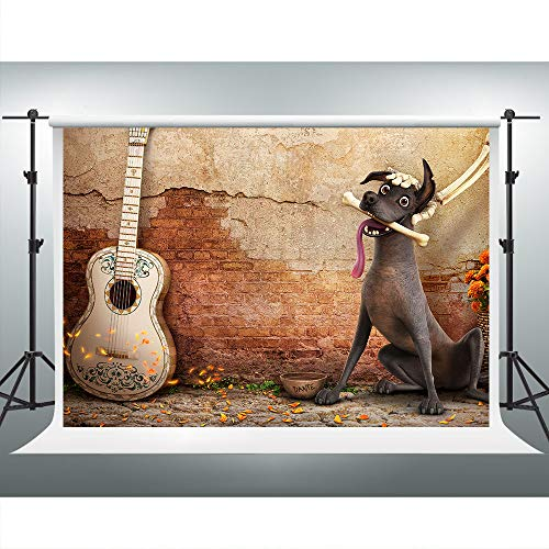 Coco Theme Kids Party Photography Backdrop 7x5ft Dilapidated