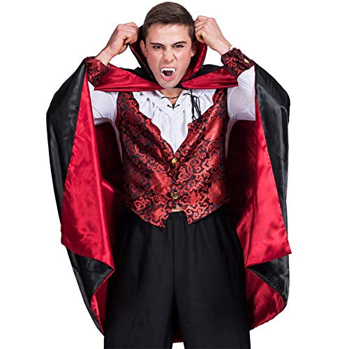 Forart Men's Gothic Vampire Male Adult Costumes Halloween Tunic Costume Set Cosplay Outfit