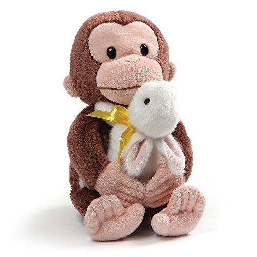Stuffed Gund Monkeys - GUND Curious George with Bunny Stuffed Animal Plush, 10
