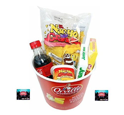 Orville Redenbacher's Redbox Movie Night Popcorn and Candy Gift Basket ~ Includes Popcorn, Nachos and Cheese, Coke and Candy~ Plus 2 Free Redbox Movies (Chocolately)