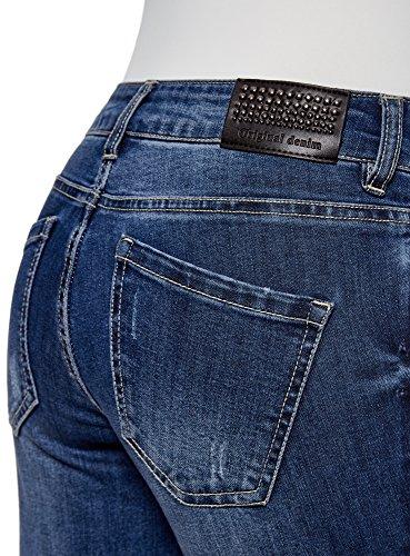7500w Blu a Vita e Donna Media Rivetti oodji Ultra Jeans yq7S81z