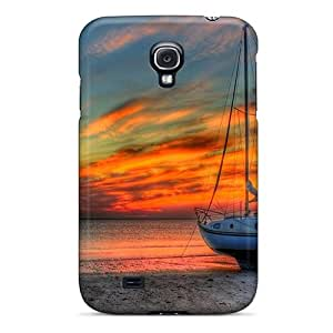 Top Quality Case Cover For Galaxy S4 Case With Nice Sailboat On The Beach At Gorgeous Sunset Hdr Appearance