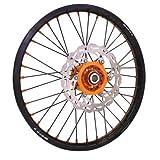 Warp 9 Complete Wheel Kit - Rear 18 x 2.15 Black Rim & Spokes/Orange Hub & Nipples for KTM 125 EXC 2003