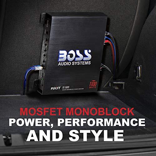 Sub Bass Remote Boss Riot R1100M 1100 Watt Mono Car Audio Power Amplifier Amp