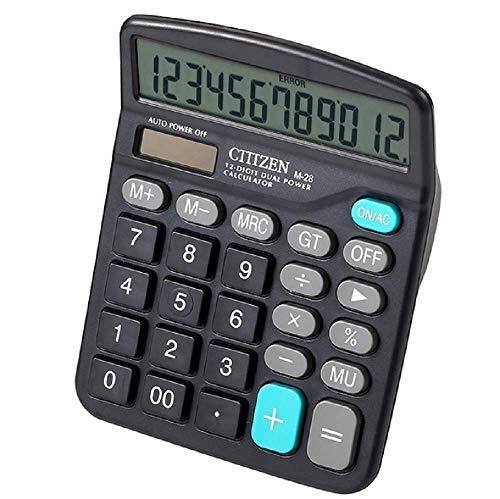 Uhat Desktop Calculator 12 Digit Large LCD Display Solar Battery Dual Power Electronic Calculators for Office School…