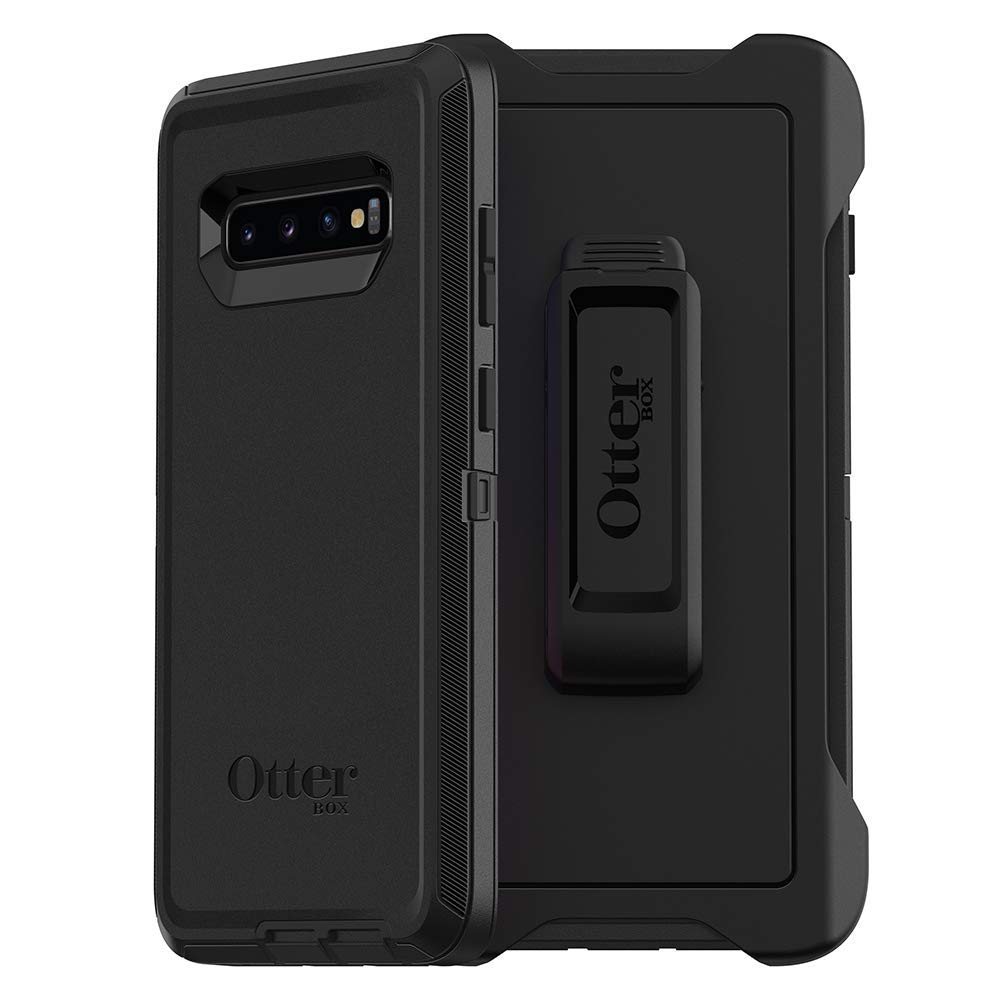 Compatible with Samsung Galaxy S10+ Otterbox Defender Black Case with Clip Holster & Retail Packaging by KampoStore (Image #1)