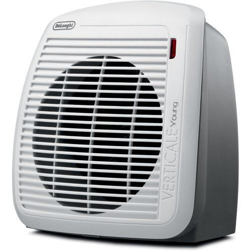 DeLonghi HVY1030 1500-Watt Fan Heater - Gray with White Face Plate Ceramic Heaters DeLonghi