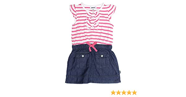 ce770fafb15 Amazon.com  DKNY Denim Dress With Cap Sleeves For Girls  Home   Kitchen