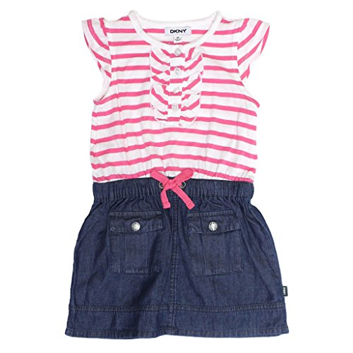 dkny-denim-dress-with-cap-sleeves-for-girls-3t-fandango-pink
