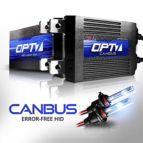 OPT7 Boltzen AC CANbus 9012 HID Kit - 5X Brighter - 6X Longer Life - All Bulb Sizes and Colors - 2 Yr Warranty [6000K Lightning Blue Xenon Light]