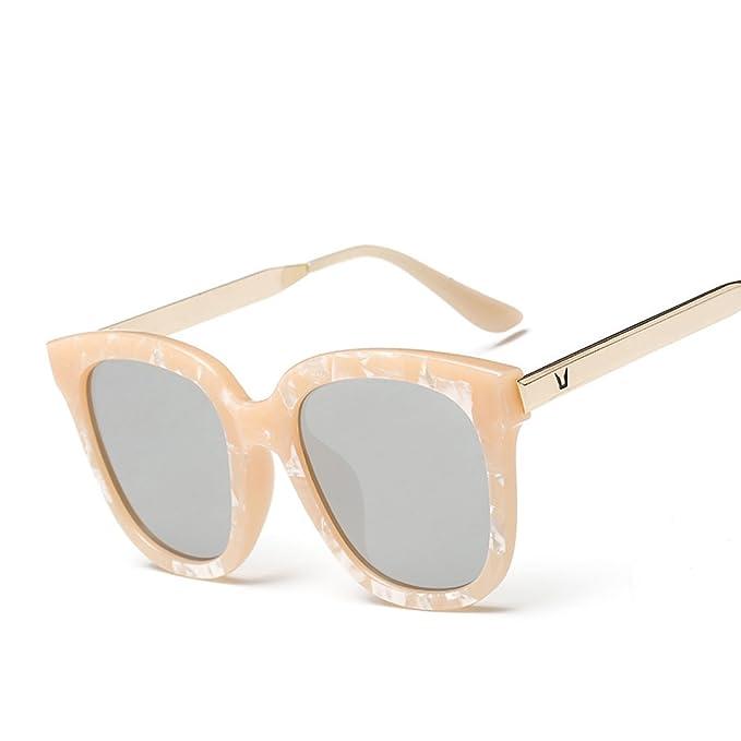 WKAIJC Sonnenbrillen Weibliche Modelle Farbfilm Mode Persönlichkeit Komfort Kreativität Sonnenbrille Anti-Ultraviolett,C