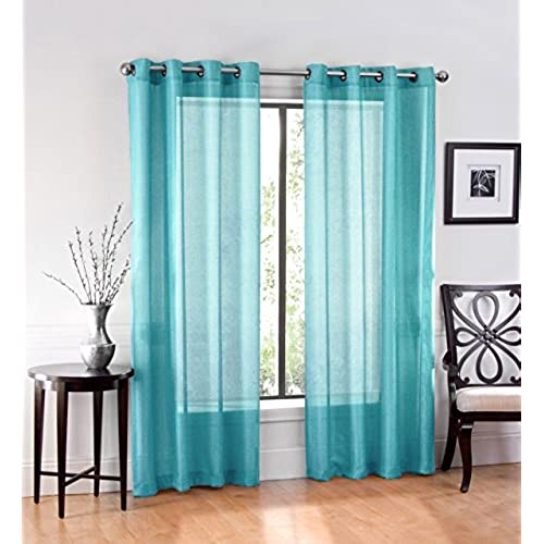 Ruthys Textile Sheer Window Curtain Grommet Panels 54 X 84