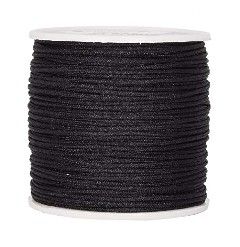 Mandala Crafts Blinds String, Lift Cord Replacement from Braided Nylon for RVs, Windows, Shades, and Rollers (1.5mm, Black) from Mandala Crafts