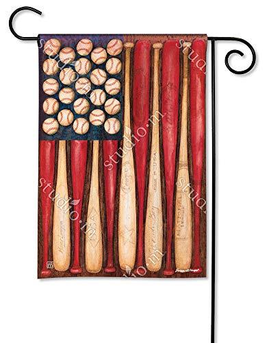 BreezeArt Baseball Season Garden Flag