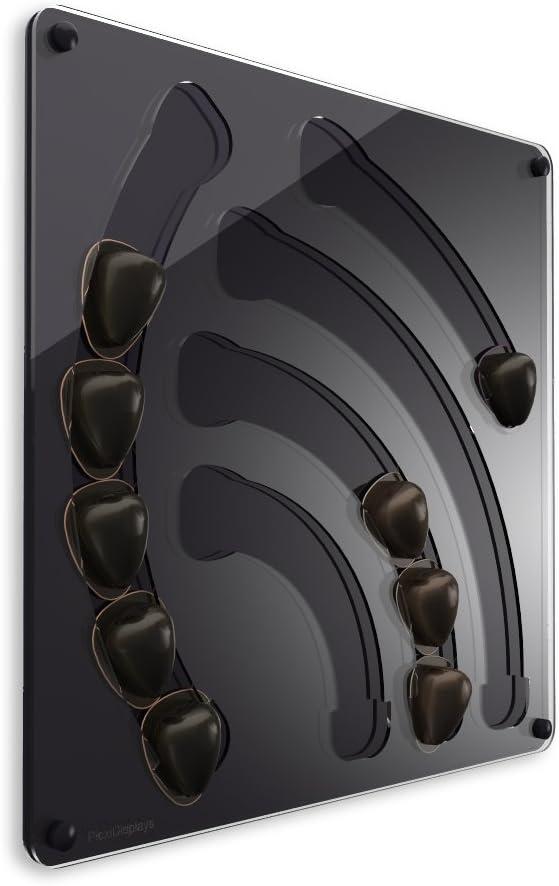 Plexidisplays 2013.08.002 Porte-Capsule Murale pour Capsules Special T Noir 41 x 40 cm