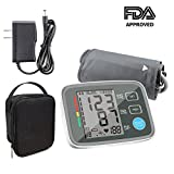 ALOFOX Blood Pressure Monitors Automatic Digital Upper Arm BP Monitor Automatically Measure Pulse Diastolic Systolic for Home Use 2 User Mode Fits Most Cuff FDA Approved Adapter and Box Included