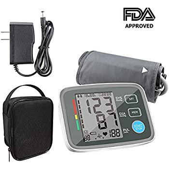 ALOFOX Blood Pressure Monitors Automatic Digital Upper Arm BP Monitor Automatically Measure Pulse Diastolic Systolic For Home Use 2 User Mode Fits Most Cuff ...