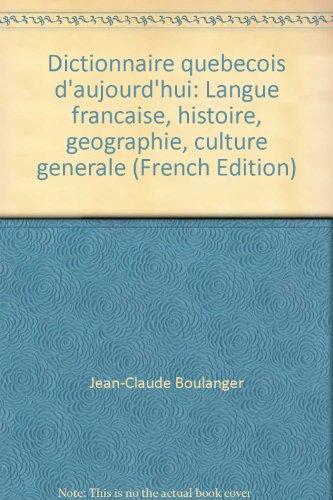 Dictionnaire québécois d