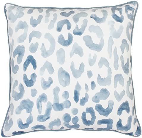 Thro by Marlo Lorenz 20×20 Miron Cheetah Velvet Throw Pillow, Arizona Blue