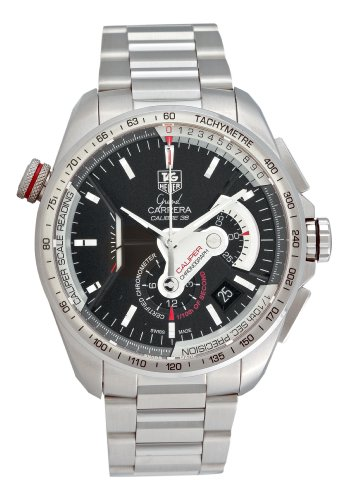 TAG Heuer Men's CAV5115.BA0902 Grand Carrera Automatic Chronograph Black Dial Watch