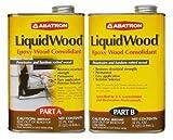 liquid wood filler - Abatron LiquidWood Epoxy Wood Consolidant, 2 Quart Kit, Part A & B