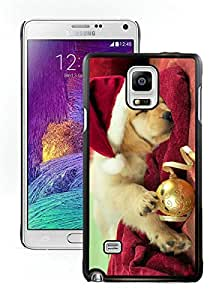 2014 New Style Christmas Dog Black Samsung Galaxy Note 4 Case 45