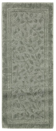 - Mohawk Home Wellington Sage Green Vine Scroll High Low Plush Bath Rug, 24x60, Light Green