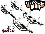 Havoc Offroad HPG-002202 HS2 Polished Stainless Hoop Nerf Bar Truck Steps (Fits Only 2015-2018 Dodge Ram Quad Cab)