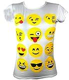 Emoji Clothes for Kids GIRLS T-SHIRTS & LEGGINGS EMOJI EMOTICONS SMILEY FACES SHORT SLEEVE TOPS 7-13 Y