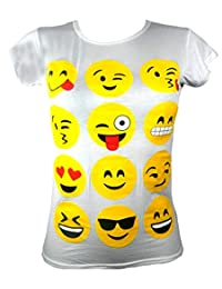AEL Aelstores. KIDS GIRLS T-SHIRTS EMOJI EMOTICONS SMILEY FACES SHORT SLEEVE TOPS