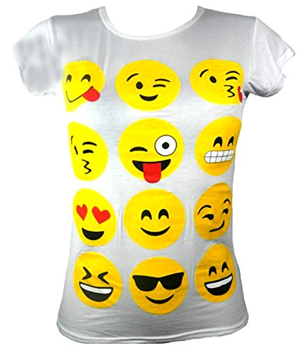 Girls T Shirt  Emoji Faces
