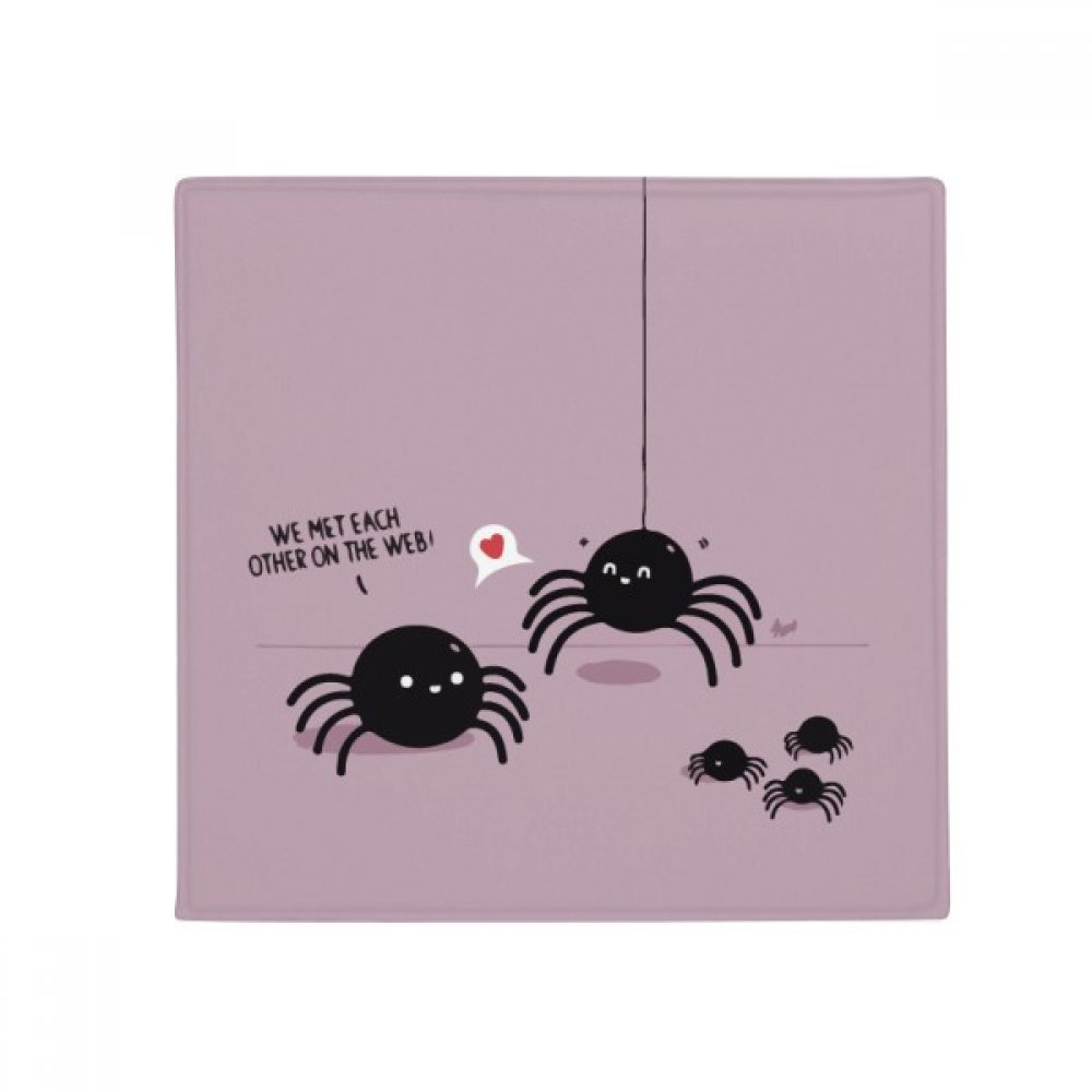 DIYthinker Spider Pattern Insect Cobweb Illustration Anti-Slip Floor Pet Mat Square Home Kitchen Door 80Cm Gift