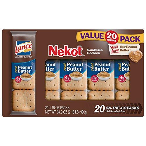 Lance Cookie Sandwiches, Peanut Butter Nekot, 20 Count Value Box