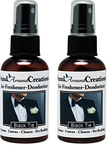 Set of 2 - Concentrated Spray For Room / Linen / Room Deodorizer / Air Freshener - 2 fl oz - Scent - Black Tie by Stand Around Creations