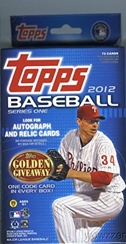 MLB Baseball EXCLUSIVE Factory Sealed Hanger Box with 72 Cards ! Loaded with Hot Inserts including Golden Moments, Golden Greats and Much More ! Look for Autograph and Relics ! (2012 Topps Series)
