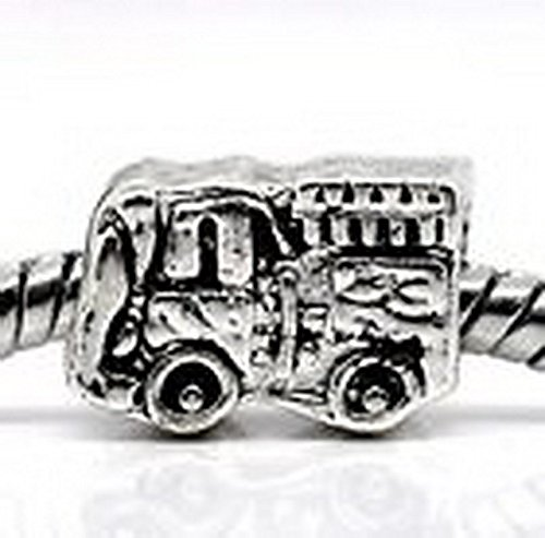 Blazers Jewelry 1985 Fire Engine Hook & Ladder Truck Firefighter Bead fits European Charm