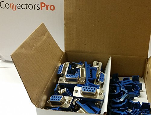 Pc Accessories - Connectors Pro 2.54mm Crimp Connector DB9 Female for 1.27mm Flat Ribbon Cable, 20-Pack