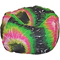 Ahh! Products Tie Dye Pink Multi Washable Kid Bean Bag Chair