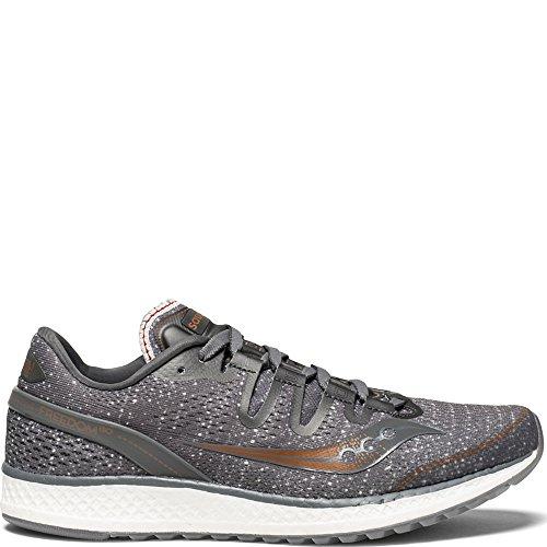 Saucony Women's Freedom ISO Running Shoe, Grey/Denim, 5.5 Medium US