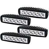 Spot Straight Fog Work Light DRL Backup Driving Pods Grill...