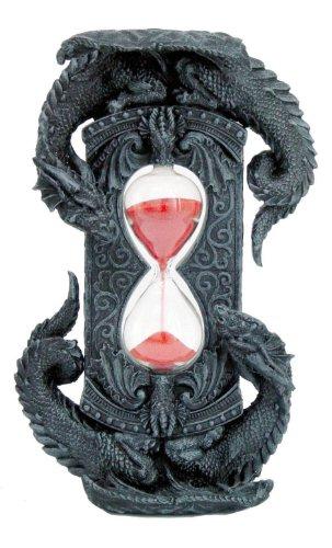 (Double Dragon Red Stonelike Sand Sandtimer Hourglass)