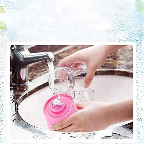 Mini exprimidor portátil multifunción de carga USB taza de jugo de fruta taza de mezcla de jugo eléctrico profesional 6 hojas de vidrio, rosa
